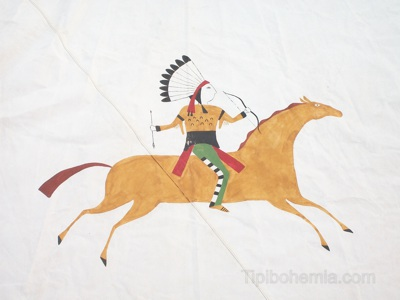 Figure of a warrior on horseback
