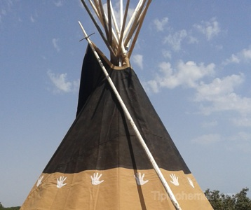 The Night Warrior teepee