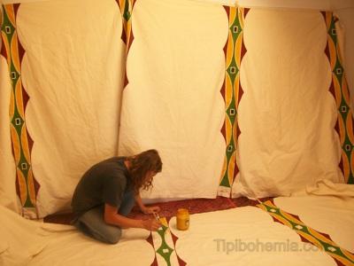 Pintando o lining