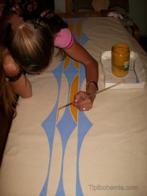 Pintando um lining