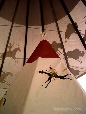 "Small teepee inside of ""Big Family"",the 7m teepee"