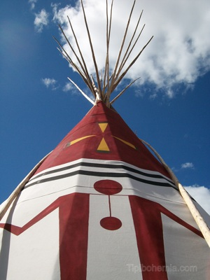 The Otter Teepee, made and painted in Blackfoot style