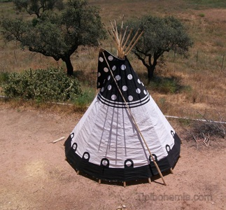 One of the tipis manufactured for Sleep 'em' All, Portugal