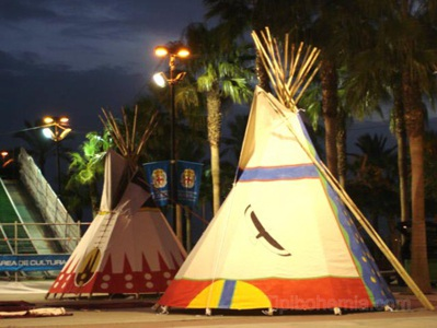 Two small teepees of 4,5m