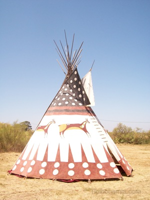 Replica of an old Blackfoot lodge