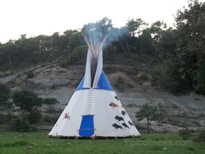 "7m teepee, named ""Big Family""."