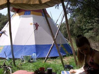 """View from the """"teepee-kitchen"""". La Encantada, Spain."""