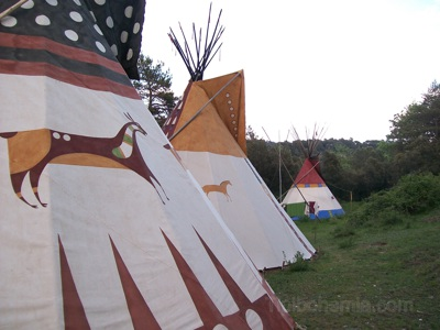 "Camp on the land of ""La Encantada"", Spain."