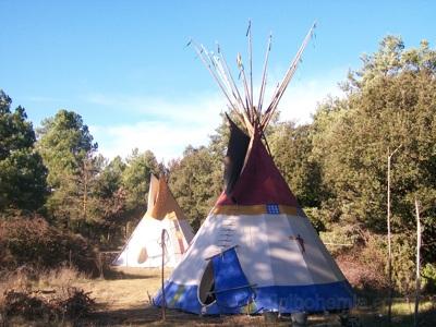 The Deer Teepee .6m lodge,was Garik's house during his stay in La Encantada. Spain