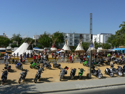 Bikers Concentration, Ayamonte, Spain.