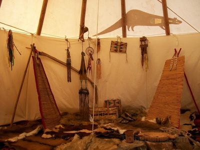 Inside of the Otter Teepee, 6,5m.