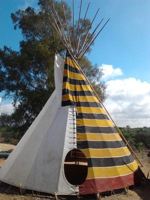 Kiowa style teepee