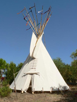 A small ceremonial teepee of 5m.