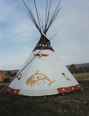 Teepee manufactured by James Rago of Terravenir and painted by Garik.