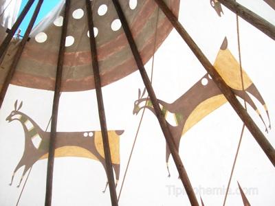 Replica of an historical teepee, Blackfoot style